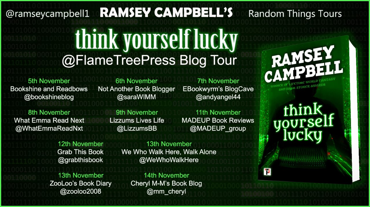 Think Yourself Lucky Blog Tour poster
